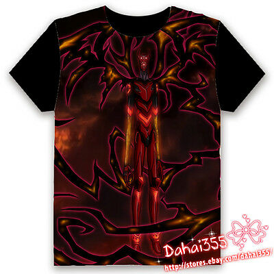 Anime Hellsing Ova HD Fiery Terror Black Cosplay Unisex Hentai T-shirt Tops #V1