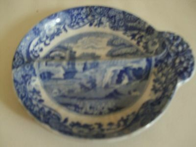"Vintage Copeland Spode Blue Italian small pickle dish "" damaged"""
