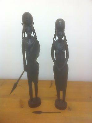 A Pair of Carved African Tribal Figures
