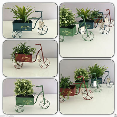 Le Jardin Des Fleurs Smart Vintage Garden Metal Trike Tricycle Flower Planter
