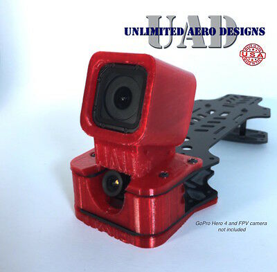20° GoPro Session Case w/ HS1177 FPV Cam Mount and Skid Plate - Vortex 250 Pro