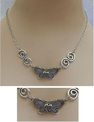 Silver Celtic Knot Butterfly Pendant Necklace Jewelry Handmade NEW Accessories