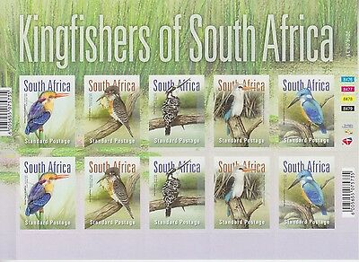 South Africa 2016 - Birds, Kingfishers Of S.a. - Complete Self Adhesive Sheet
