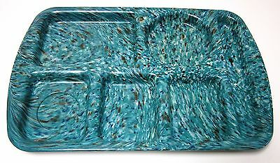One (1) Prolon Ware School Lunch Tray- Speckled- Vintage- New-  Color Turquoise