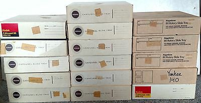 LOT of 16- Kodak Slide Projector Carousel Trays- w Boxes, Most w Index Sheets