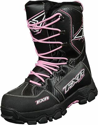 FXR X Cross Boots Black / Fuchsia Size Mens 6 Womans 8