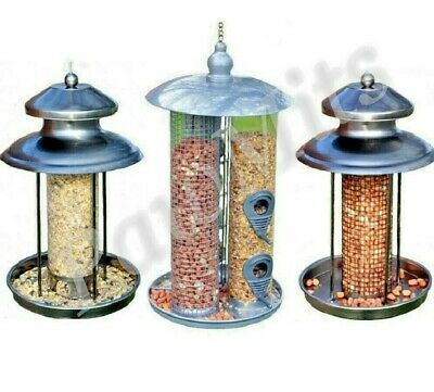 DELUXE LANTERN FEEDER - Metal Peanut Seed Suet Fat Ball Hanging Feeders Bird Pet
