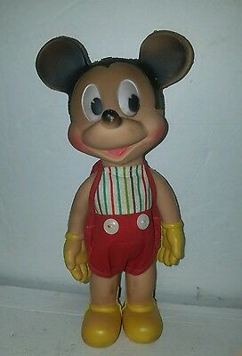 vintage Sun Rubber squeaker Mickey Mouse toy 1946-50, collector