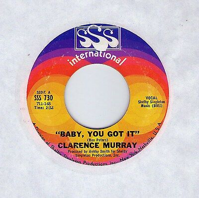 """Top Northern Soul (Hear!) CLARENCE MURRAY """"Baby, You Got It"""" SSS Int."""