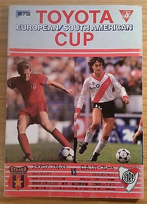 1986 Toyota Cup Final Programme - Steau Bucharest v River Plate