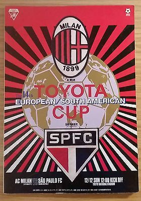 1993 Toyota Cup Final Programme - AC Milan v Sao Paulo