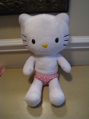 Large HELLO KITTY White Build A Bear Plush Toy Doll No Bow W/MATCHING UNDIES