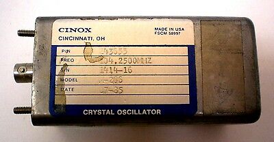 Crystal Oscillator Military, CINOX, 104.2500 MHZ, Sealed, No Pinout, Made in USA