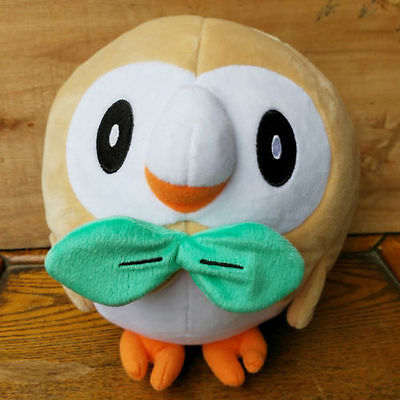 Pokemon Rowlet Figure Plush Toy Soft Stuffed Animal Doll 7''