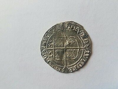 Elizabeth 1st 1558-1603 Silver sixpence 1593 nice condition