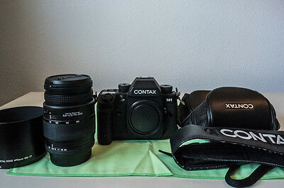 Contax N1 + Carl Zeiss Vario-sonnar t * 70-200 + leather case