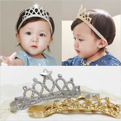 Baby Girls Princess Crown Headband Kids Toddler Headwear Hair Band Accessories