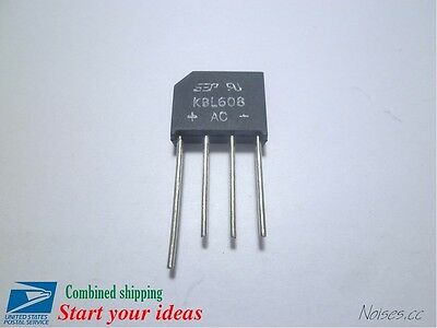 5Pcs KBL608 6A 800V Bridge Diode Rectifier