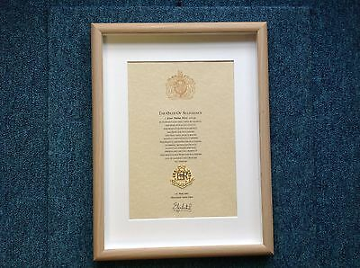 Royal Military Police RMP Oath Of Allegiance With Cap Badge