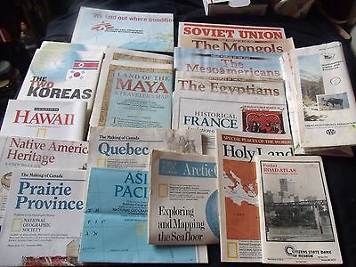 Vintage 21 Maps Lot, Doctors Without Borders World Map, National Geo. Etc