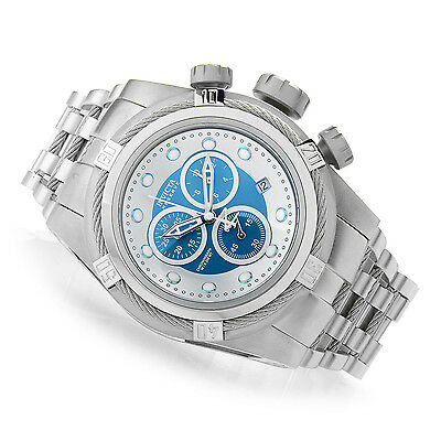 @New Invicta Reserve 52mm Bolt Zeus Quartz Chronograph 21802 Stainless Bracelet