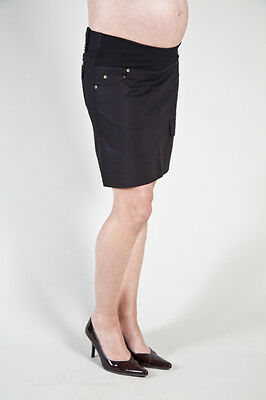 New Szabo Utility Maternity Skirt Black Free Express Shipping