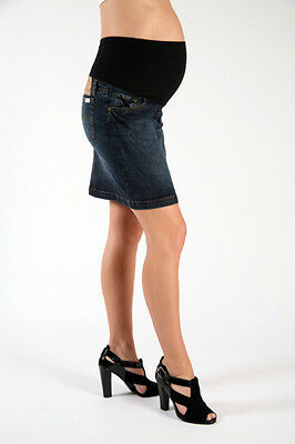 New Szabo Maternity Worn-in Skirt Denim Free Express Shipping