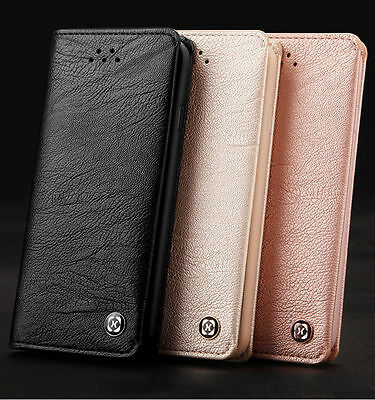 XUNDD Flip Leather Business Card Holder Wallet Case Cover For Samsung Galaxy