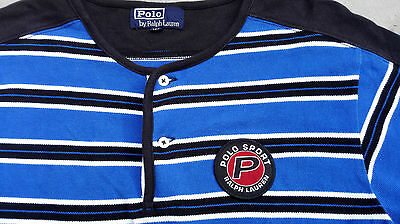 Vintage Polo Sport By Ralph Lauren Henley Shirt Small Snow Beach P Wing Stadium