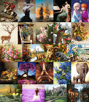 """16X20"""" Acrylic Paint By Numbers Kit Oil Painting On Canvas Picture 23 Designs"""