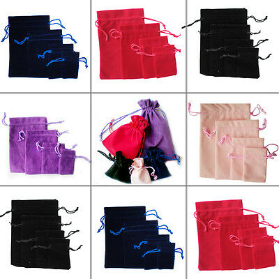50pcs luxuery Velvet Jewellery Packing Drawstring Pouches Wedding Gift Bags