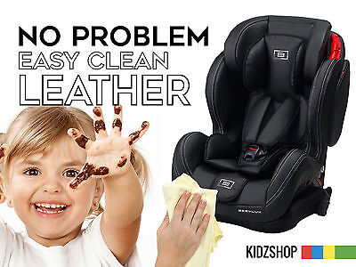 LEATHER RECLINING GROUP 123 Isofix baby car seat child kids toddler 9 36 safety