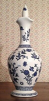 Coalport Blue and White Limited Edition Sherry Bottle Harvey's Bristol Creme