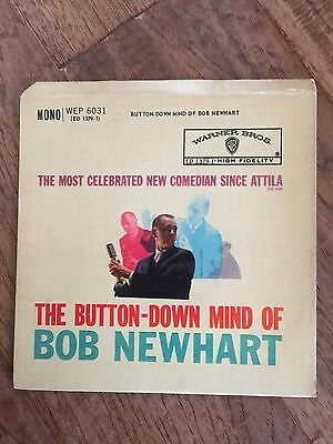"""The Button Down Mind Of Bob Newhart ~ 7"""" Single 1960"""