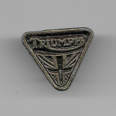 Vintage Sculpted Triumph Triangle Emblem B Motorcycle Old Metal Badge