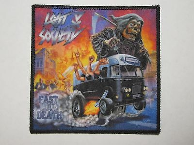 Lost Society printed NEW patch thrash metal