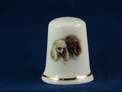 Collectable Thimble Dogs Poodles