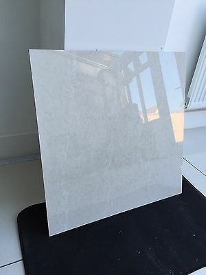 Polished Porcelain White Marble 60x60 Floor and Wall Tiles SAMPLE