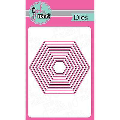 Pink And Main Dies-Nested Hexagon, 8/Pkg 812842022214