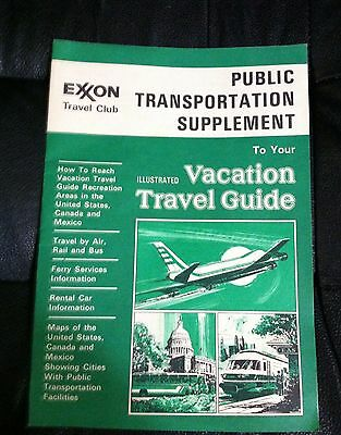 1977 Exxon Travel Club Vacation Travel Guide Booklet