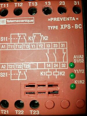 Telemecanique Xps-Bc1-110 Rqaus1 Xpsbc1110 Safety Relay Two Hand Control 24Vdc