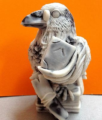 Raven figurine marble chips bird Crow Souvenirs from Russia realistic statue