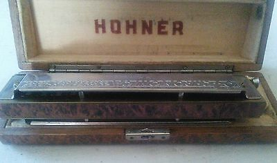 Antique/ VINTAGE HARMONICA HOHNER 64 CHROMONICA  Made in Germany