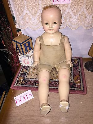 "24"" American Character PETITE cloth and composition doll in TLC condition"