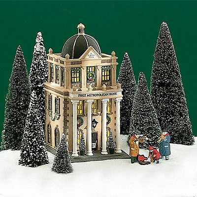 First Metropolitan Bank #58823 Dept 56 Retired Christmas In The City