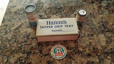 Hamm's Tapper Drip Tray, Mini Cans, and Button