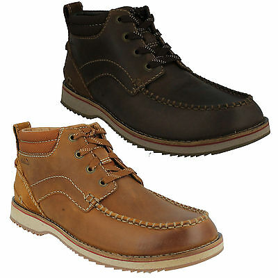 c6a0d64fc329e2 Mahale Mid Mens Clarks Nubuck Leather Lace Up G Fit Casual Ankle Chukka  Boots