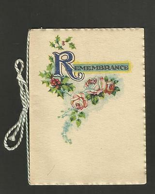 Vintage Greeting Card ~ Christmas Remembrance