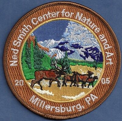 "Pa Pennsylvania Fish Game Commission 4"" Ned Smith 2005 10th Anniversary Patch"