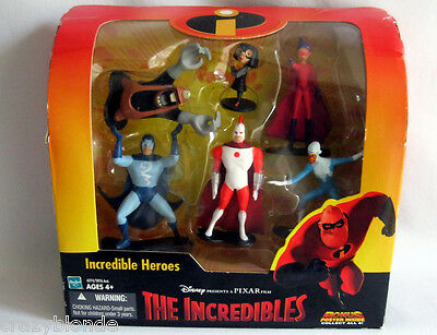 THE INCREDIBLES HEROES Figure Set Toy RARE UNDERMINER Edna Frozone Stratogale